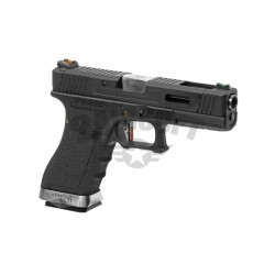 Replica Glock 17 Custom Negru / Silver GBB WE