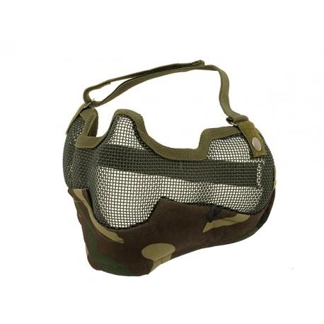 Masca Protectie Plasa si Material Woodland CS