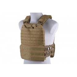 Vesta Plate Carrier Laser Cut/Molle Tan GFC Tactical