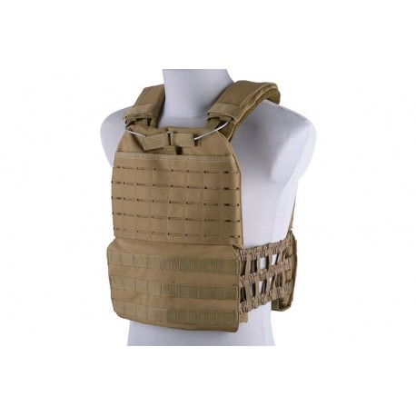 Vesta Plate Carrier Laser Cut/Molle Tan GFC Tactical