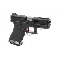 Replica Glock 19 Custom Negru / Silver GBB WE