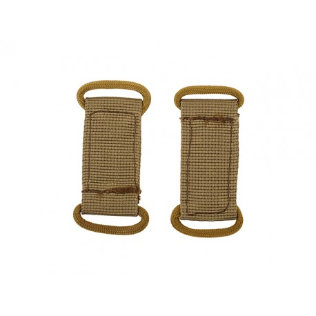 Set 2 bucle Molle Coyote 8Fields