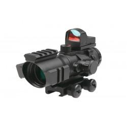 Luneta Rhino 4X32 cu Micro Red Dot Theta Optics