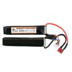Baterie Lipo Split 2200 Mah 11.10 V 20C Deans