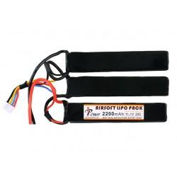 Baterie Lipo 11.1V 2200 mAh [1+1+1] 20C Deans