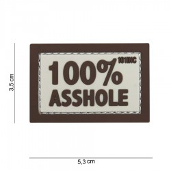 Patch Pvc 100 % Asshole Tan 101 inc