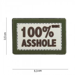 Patch Pvc 100 % Asshole Olive 101 inc