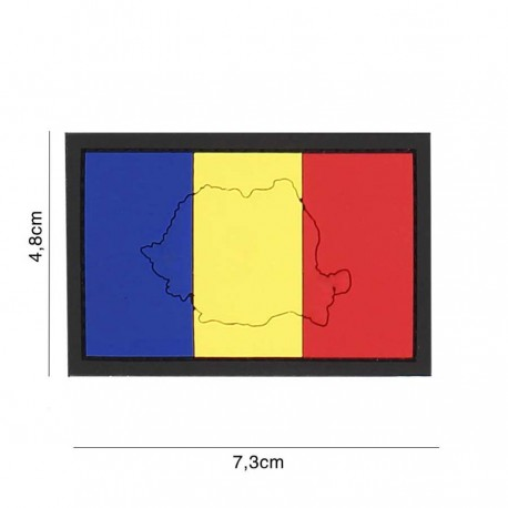Patch Pvc Tricolor Romania Contur 101 inc