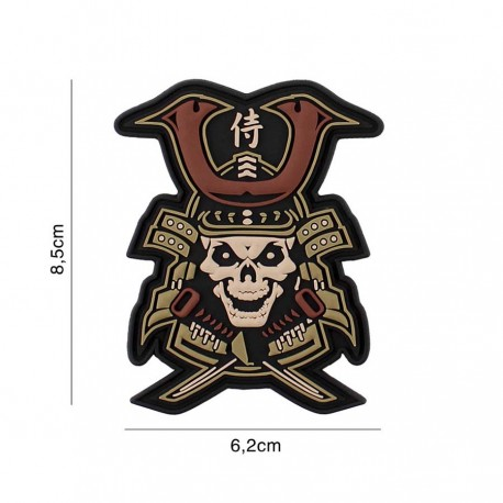 Patch 3D Samurai Skull 101 Inc