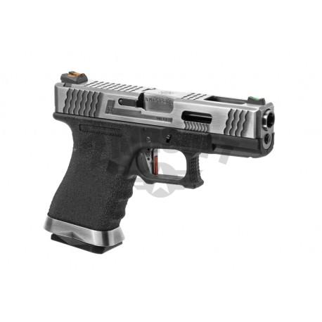 Replica Glock 19 Custom Silver GBB WE