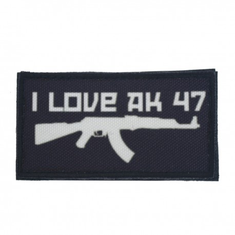 Patch I Love AK47 Negru