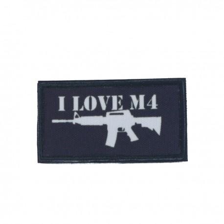Patch I Love M4 Negru