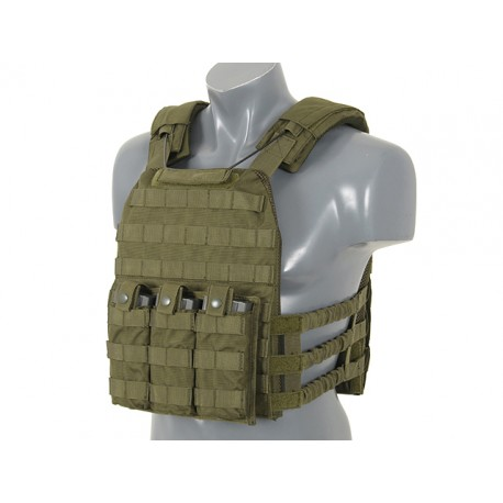 Vesta Tactica First Defense Plate Carrier Olive 8Fields