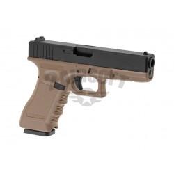 Replica Glock KP-17 Tan / Negru CO2 KJ Works