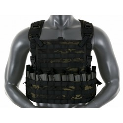 Chest Rig Tactic Multicam Black 8Fields