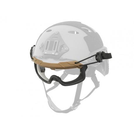 Ochelari Tactici Fast Helmet Coyote Brown Transparenti TMC