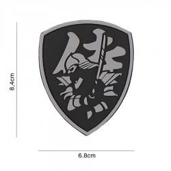 Patch 3D Samurai Shield Gri 101 Inc
