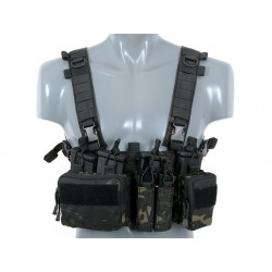 Chest Rig Buckle Up Recce / Sniper Multicam Negru 8Fields