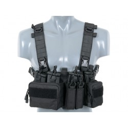 Chest Rig Buckle Up Recce / Sniper Negru 8Fields