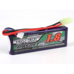 Baterie LiPo 1800mAh 7.4V 25-50C Nano Tech