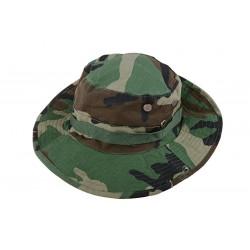 Sapca Boonie Hat Woodland ACM