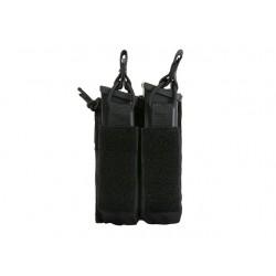 Buzunar Dublu Deschis Incarcatoare Pistol Negru 8Fields