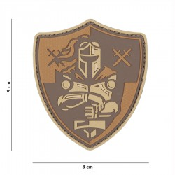 Patch 3D Knight Shield Brown 101 Inc