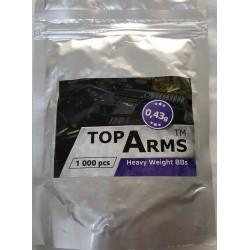 Bile TopArms 0.43 gr albe 1000 bucati