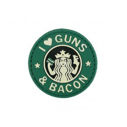 Patch I Love Guns Bacon
