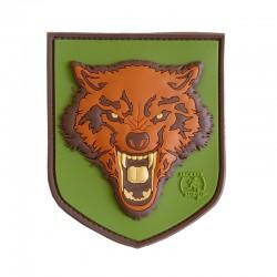 Patch Wolf 3D PVC Verde