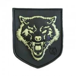 Patch Wolf 3D plastic Negru