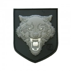 Patch Wolf 3D plastic Gri