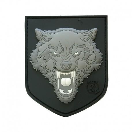 Patch Wolf 3D plastic Gri