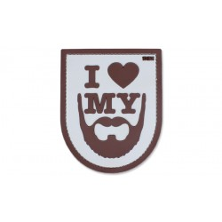 Patch - I Love My Beard - 3D