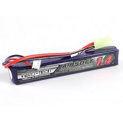 Baterie LiPo 1400mAh 11.1V 15-25C Nano Tech
