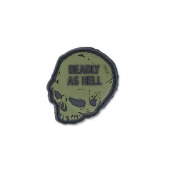 Patch Pvc Deadly As Hell Olive 101 inc
