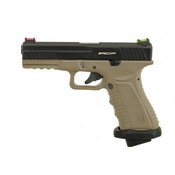 Replica Pistol ACP601 CO2 Tan/Negru APS