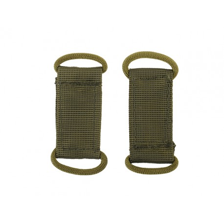 Set 2 bucle Molle Olive 8Fields