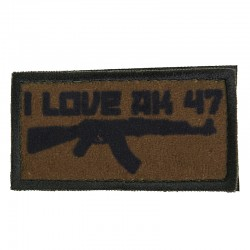 Patch I Love AK47 Olive