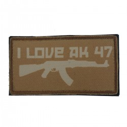 Patch I Love AK47 Coyote