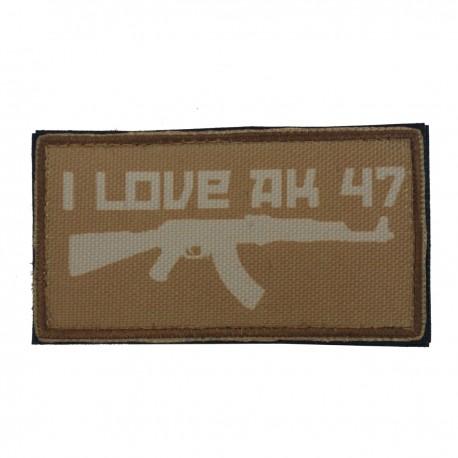Patch I Love AK47 Coyote