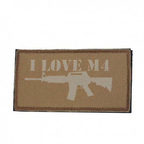 Patch I Love M4 Coyote