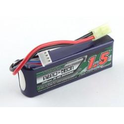 Baterie LiPo 1500mAh 11.1V 20-40C Nano Tech