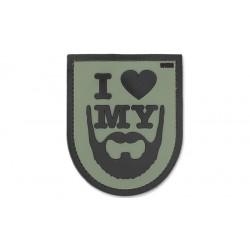 Patch - I Love My Beard - 3D Olive