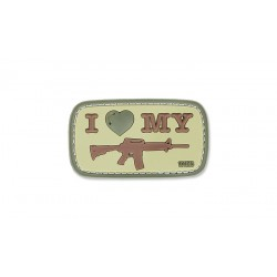 Patch Pvc I Love My M4 Coyote 101 inc