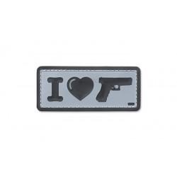 Patch Pvc I Love My Sidearm Gri 101 inc