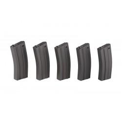 Set 5 Incarcatoare Metal 100 bile Gri Specna Arms